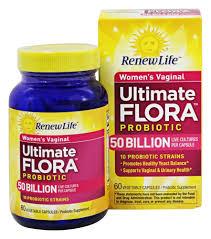 Renew Life Ultimate Flora Womens Vaginal Probiotic 60 Vegetarian Capsules