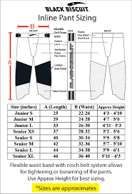 Biscuit Size Chart Inline Pant Size Chart Inches Black Biscuit