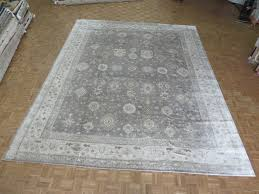 area rugs one of a kind rhyne oushak hand knotted gray area