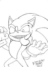 Sonic Exe Free Coloring Pages