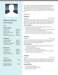 En Word Para Scargar Ya A 2 Column Resume Template Maker Download ...