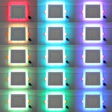 Rgb Led Panel Light Ultra Slim 6 9 16 24w Dual Color Rgb Led Panel Light Concealed Cool White Lamp Square Ceiling Light Ac 100 265v