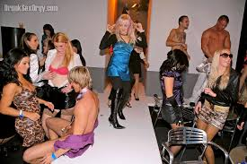 Drunk sex orgy fashion show