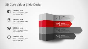 Slide Desigh 3d Core Values Slide Design For Powerpoint