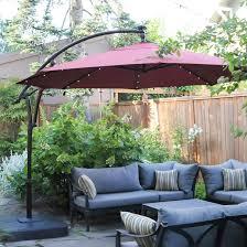 hampton bay 11 ft led offset solar umbrella