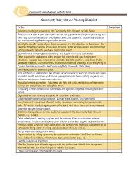 Community Baby Shower Planning Checklist Templates At