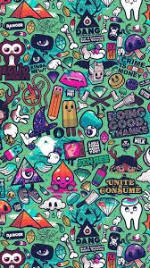 Art Work Pattern Illustration Graffiti Green Iphone 7 Wallpaper