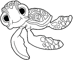Squirt Coloring Pages Finding Nemo Crush And Squirt 1 Free Printable