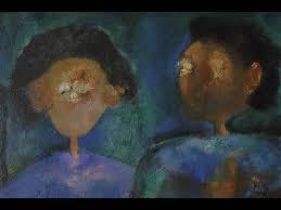 felipe orlando oil on canvas titled two woman signed lower right felipe