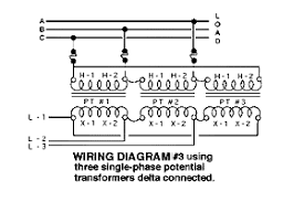 dd faee aad effd gif n  typical wiring diagrams for three phase potential transformer situations