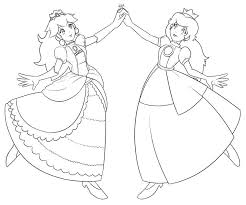 Small Picture Princess peach coloring pages and daisy ColoringStar