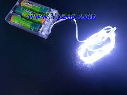 copper wire battery powered led lights once turned on this battery light will then illuminate for