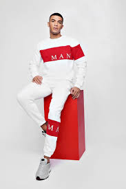Submitted 1 month ago by skender_beu. Man Sport Contrast Panel 90s Tracksuit Boohoo Uk Sports Wear Fashion Tracksuit Mens Outfits
