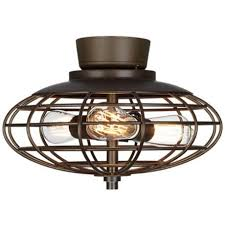 flush mount caged ceiling fan. Bedroom: Fanimation Studio Collection Vintere Aged Bronze Ceiling Fan With Caged Flush Mount