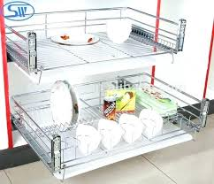 pull out baskets for kitchen cabinets slide cabinet