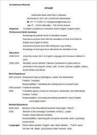 Cv Template Us Cvtemplate Template Microsoft Word