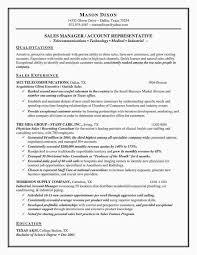 Restaurant Manager Resume Skills Resume Sample Of Sales Manager Valid Director Sales Resume Sample