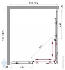 <b>Душевой уголок BELBAGNO SELA</b> (1000х800х1900) SELA-AH-2 ...