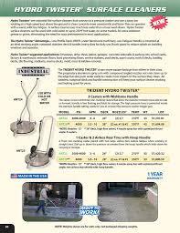 pressure washer surface cleaners hydro tek brochure