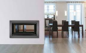 wood burning fireplace insert double sided c 80 plus carbel