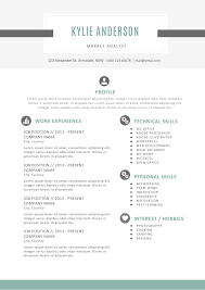 kylie anderson resume soft tone blue and clean template kylie anderson resume template