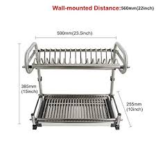 Plate drying rack Tray Image Unavailable Amazoncom Amazoncom Probrico 2tier Stainless Steel Dish Drying Dryer Rack