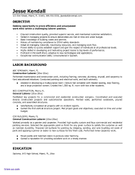 Example Of Construction Resume Laborer Resume Samples Sample General Labour Packing