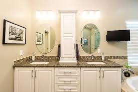 bathroom countertop storage tower phenomenal natural wood linen interior design 16