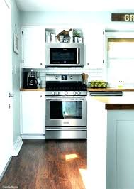 Microwave Stove Hood Range View Of Stainless And Built In With Decor  Sophisticated Build Island