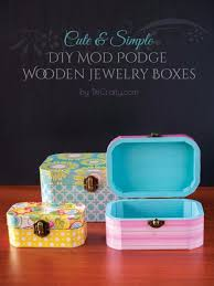 diy jewelry storage diy mod podge wooden jewelry boxes do it yourself crafts and