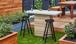 diy bar. Diy Bar Stools In Outdoor Setting