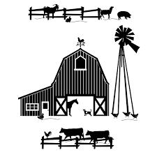 farm clipart black and white. Farm Scene Clipart Black And White Google Search With