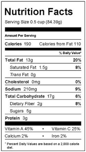 roasted vegetable farro nutrition facts