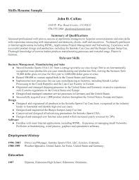 Summary Of Qualifications On A Resume Examples Fruityidea Resume Adorable Good Resume Summary