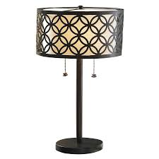 allen roth 25 in oil rubbed bronze standard table lamp with metal shade