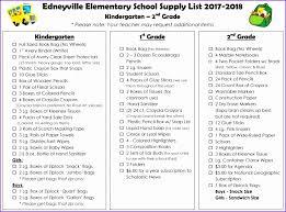 School Supplies List Template School Supply Checklist 2017 2018 School Supply Lists
