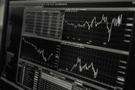 Free Stock Market Charts And Graphs Turned On Monitor Displaying Frequency Graph Free Stock Photo