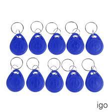 <b>10Pcs</b> keychains <b>125KHZ RFID</b> proximity id card <b>token tags</b> key fobs ...