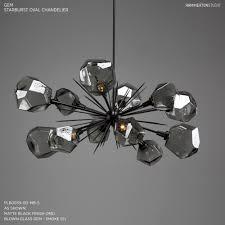 colored glass pendant light luxury multi colored crystal chandelier unique gem oval starburst