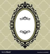 vintage frame design oval. Oval Vintage Frame Vector Image Design