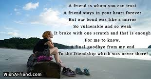Breakup Messages For Friends Gorgeous Goodbye Friendship