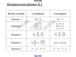 ГДЗ контрольные работы по геометрии класс Рурукин  Контрольная работа №5