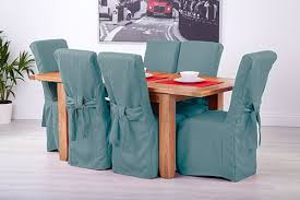 8 duckegg fabric dining chair covers
