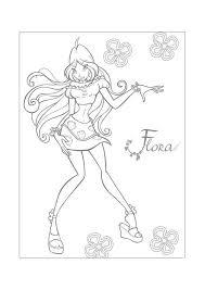 Winx Flora Winx Club Kleurplaten Kleurplaatcom
