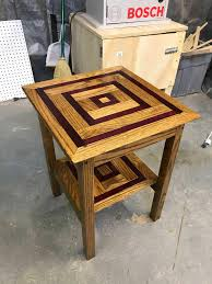 purple heart wood furniture. My First Furniture I Built. End Table Of Red Oak And Purple Heart. Did My  Best With Limited Skill/experience. Purple Heart Wood
