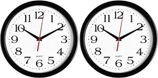 office wall clocks. Bernhard Products Black Wall Clocks, 2 Pack Silent Non Ticking Quality Quartz Battery Operated 10 Office Clocks