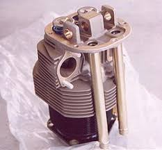 air cooled engine a cylinder from an air cooled aviation engine a continental c85 notice the rows of fins on both the steel cylinder barrel and the aluminum cylinder head