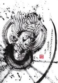 見開き3面ド迫力の御朱印 副住職の筆がうなる劇画調朝日新聞デジタル