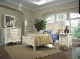 Lexington Bedroom Furniture Furniture Ashby 4 Piece Panel Bedroom Set In Patina White