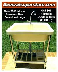 outdoor sink faucet kitchen and cabinet portable garden camp camping remodel must have home depot outside outdoor sink faucet